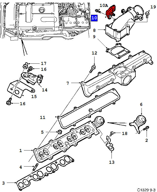 saab oxygen sensor location 9 3 diagram